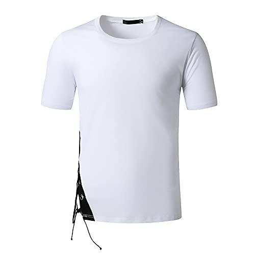Camiseta Hombre Verano Casual Sport Slim Fit Hombre Manga Corta Stretch Transpirable Moderno Clásico Hombre Sport Shirt Running Workout Hombre Poloshirt I-White2 L