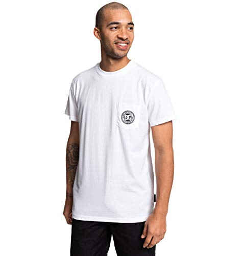 DC Shoes Basic Pocket-T-Shirt pour Homme, Snow White, FR : 2XL (Taille Fabricant : XXL)