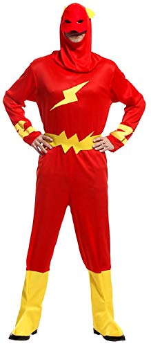 Lovelegis Disfraz Flash - Disfraz - Carnaval - Halloween - superhéroe - Color...