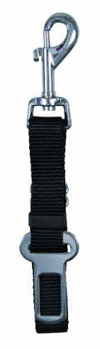 Trixie Repuesto Cinturón Seguridad Perros - Arnés para Coches Mosquetón Giratorio Ajustable 45-70cm/30mm Negro