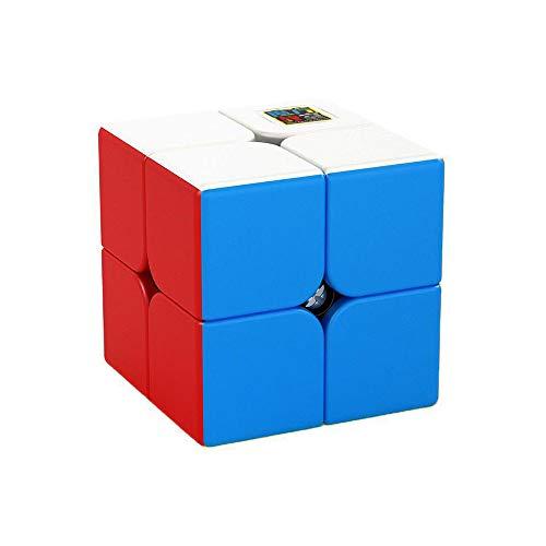 OJIN MoYu MoFang JiaoShi Meilong Series Cubo mágico Cubing Aula Sin Problemas Rápido Twsit Puzzle Enigma Cerezo Cubo Velocidad Cubo Puzzle (2x2 Sin Etiqueta)