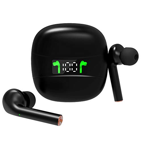 318Z4HBVHoL. SL500  - Wireless Earbuds Bluetooth 5.0 Headphones Hi-Fi Sound and Noise Cancelling Headsets (Charging Case Included), IPX7 Waterproof True Wireless Earbuds w/Mic Suitable for Samsung/iPhone/Android Phone