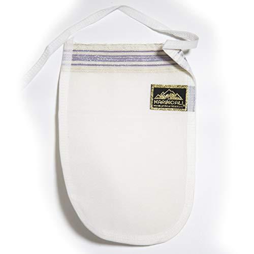 Hamam Peelinghandschuh Kese - Türkisches Bad-Handschuh - echtes Hammam-Handschuh in weiß mit weicher Struktur aus Viskose - ideal für Massagen und Peelings