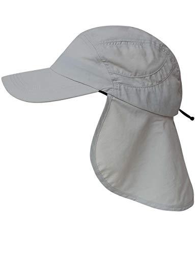 iQ-UV Erwachsene Cap+Neck Kappe Nackenschutz, Grey, 55-61cm