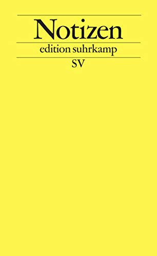 Notizbuch edition suhrkamp gelb: Notizen