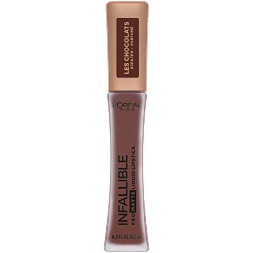 L'Oreal Paris Cosmetics Infallible Pro Matte Les Chocolats Scented Liquid Lipstick, 70% Yum, 0.21 Fluid Ounce