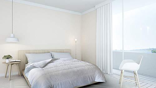 Italian Bed Linen Piumino Estivo, Microfibra, Bianco, 1 Piazza e Mezza