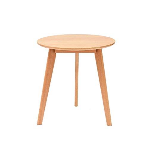 ZBM-ZBM eettafel van massief hout, eenvoudige ronde tafel, beuken, kleine apartent, eettafel voor thuis, kleur notenhout, kleine bijzettafel met bank