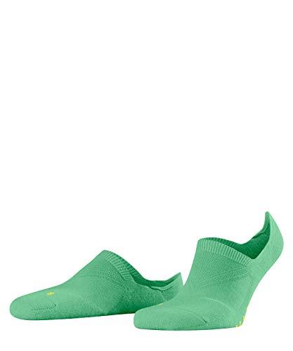FALKE Unisex Cool Kick Invisible, Ultraleichte Plüschsohle, Rutschfest durch Silikon im Fersenbereich, 1er pack, Grün (Neo Mint 7133), 37-38