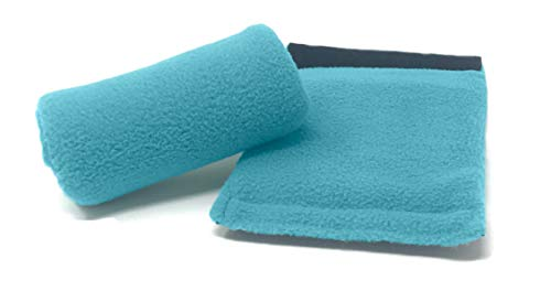 Universal Crutch Hand Grip Covers - Luxurious Soft Fleece with Sculpted Memory Foam Cores (Turqoise)