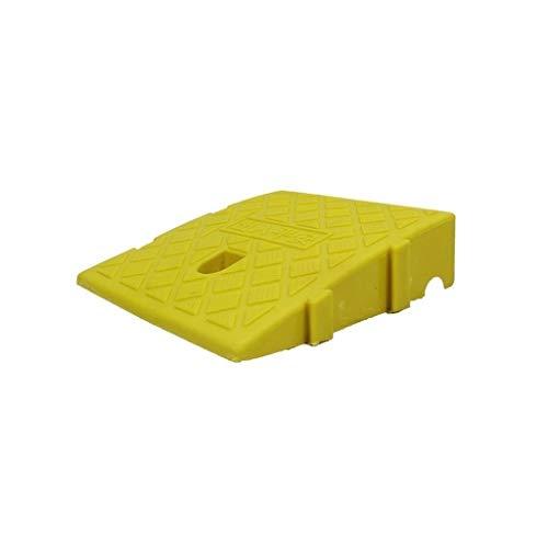 Aparador Feng SZQ-Rampes de umbral, silla enrollable de clase Ramps, borde de patinete amarillo/negro de plástico, ramps, uso el umbral antideslizante para exterior portátil Uphill Pad Rampes, plástico, amarillo, 25*27*11CM