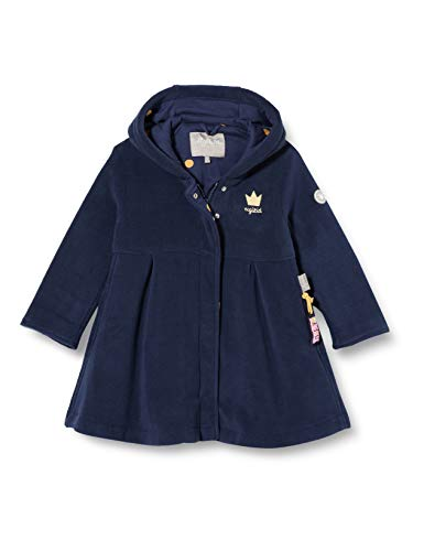Sigikid Mädchen Mini Fleecemantel Größe 098-128 Fleece-Jacke, Blau, 128