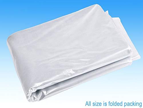 Clear Polythene Sheeting (600g, 4X 25m) Waterproof Transparent Plastic Dust Sheet Greenhouse, polytunnel Flooring, Farming, Gardening