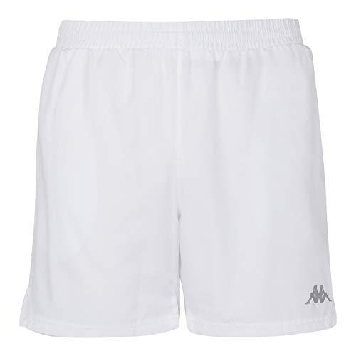 Kappa Lambre Pantalones Cortos, Hombre, Blanco, M