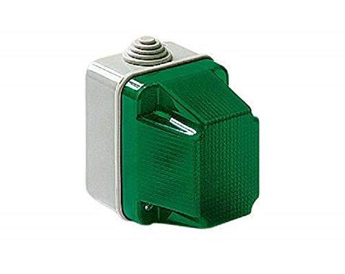 elettrocanali Spia di Segnalazione Luminosa Stagna Ip55 230v Rosso Verde Ec320r/v, Verde
