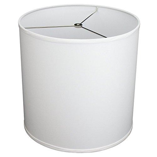 FenchelShades.com 14' Top Diameter x 14' Bottom Diameter 14' Height Cylinder Drum Lampshade USA Made (White)