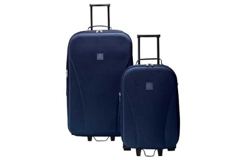 Go Explore 2 Piece Wheeled Luggage Set - Navy.