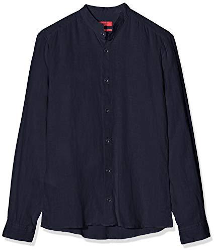 HUGO Herren Elvorini Freizeithemd, Blau (Navy 413), Small (Herstellergröße: S)