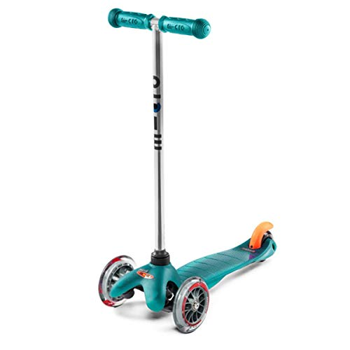 Micro Kickboard Micro Mini Kick Scooter, Aqua, Ages 2-5