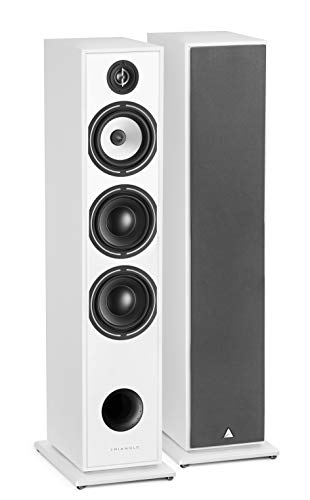 Lowest Price! triangle HiFi Floor Standing Speaker - Borea BR08, White