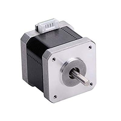 MOONS' 0.9deg NEMA17 Stepper Motor 3d Printer 0.39Nm 1A 2Phases 39.8mm(1.57in.) Bipolar DC High Resolution Stepping Motor High Accuracy Smooth Silent Step Motor for Prusa(model MS17HA2P4100)