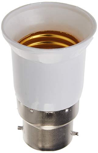 AWE-LIGHT Lot de 6 B22 vers E27 Adaptateur de Douille , Ampoule LED Base Douille B22 à E27 - Normes CE RoHS