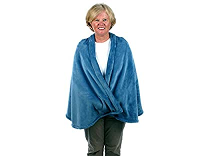 Granny Jo Products Women's Jackets and Coat's Large/X-Large Unisex-Adult's Fleece Cape, Wedgewood Extra, Wedgwood Blue