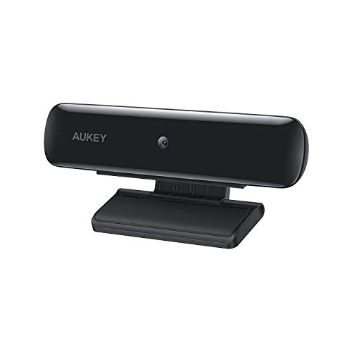 AUKEY Webcam FHD, Videocamera da 1080p per Dirette Streaming, Webcam USB per Videochiamate in Widescreen e Registrazione da PC