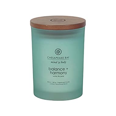 Chesapeake Bay Candle Mind & Body Medium Scented Candle, Balance + Harmony (Water Lily Pear)