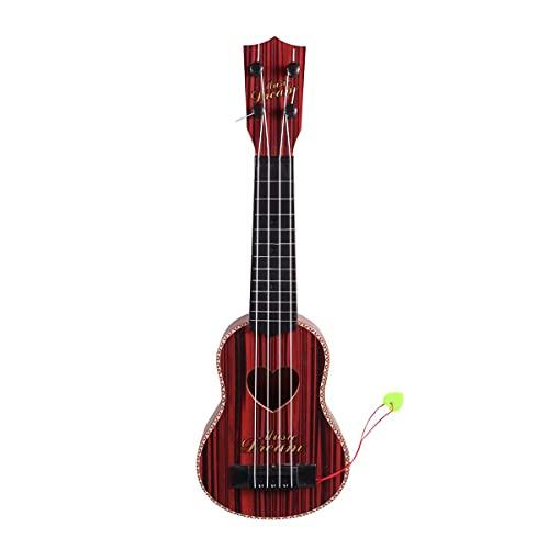 Ukelele Hawaii Guitarras de cuatro cuerdas, mini guitarra, pequeños instrumentos musicales, regalos para principiantes, niños, amantes de la música (marrón oscuro) (color marrón oscuro)