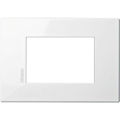 Bticino HW4803HD Placca Axolutelute Air 3 Moduli, Bianco