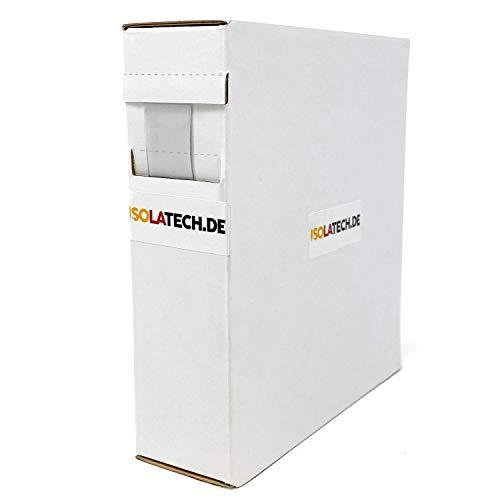 Mini Box 2:1 Transparent 12,7mm 6m Schrumpfschlauch Rolle in praktischer Spenderbox von ISOLATECH