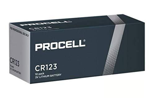 Duracell Procell CR123A High Power - Confezione da 10 batterie al litio CR17345