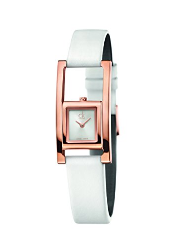 Calvin Klein Reloj Analógico para Mujer de Cuarzo con Correa en Cuero K4H436L6