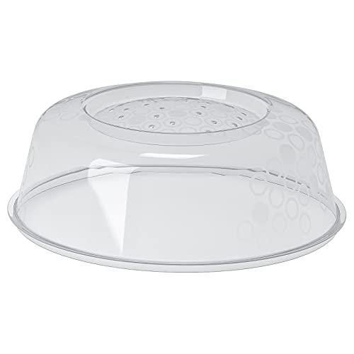 Ikea PRICKIG Mikrowellendeckel-Abdeckung mit Lüftungsschlitzen für perfektes Aufwärmen, transparent, 2 Stück