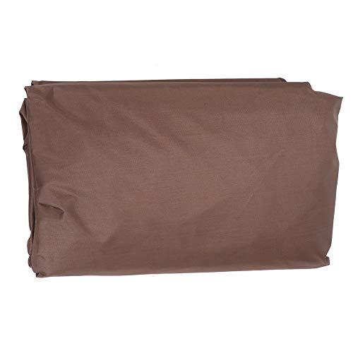 Cubierta de jacuzzi impermeable para exterior de jacuzzi, cubierta de protección para fuentes calientes (café)