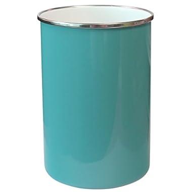 Calypso Basics by Reston Lloyd Enamel on Steel Utensil Holder, Turquoise