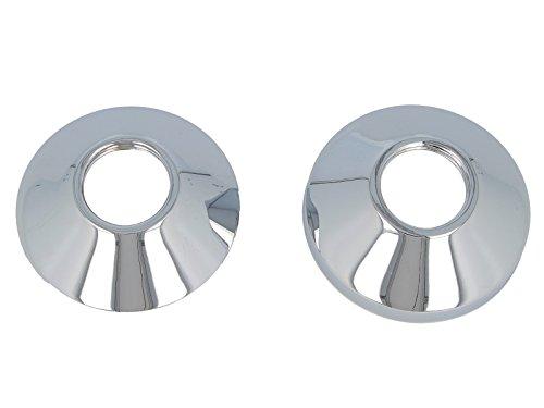 tecuro Universal - Ø 85 mm Gewinderosetten (2 Stück) in konischer Bauform für Wandarmaturen, messing verchromt