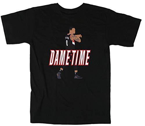 Shedd Shirts Black Portland Lillard It's Dame Time T-Shirt Adult
