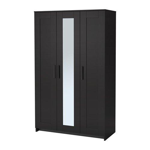 IKEA Kleiderschrank mit 3 Türen, schwarz 2028.81120.218