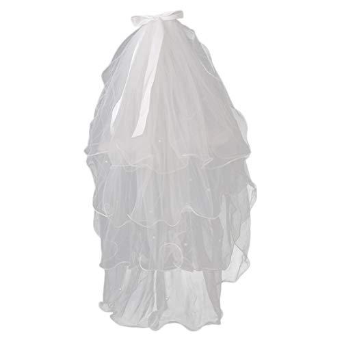 Lurrose - Velo de novia de malla de malla para novia, con...