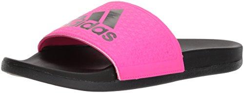 adidas Kinder Adilette Clf+ K Sandale, Schwarz (Core Black, Shock Pink S, Shock Pink S), 34 EU