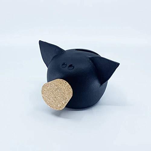 Kreidesammlung Extra kleines schwarzes Sparschwein für Kinder & Erwachsene | Handgemachter Ton