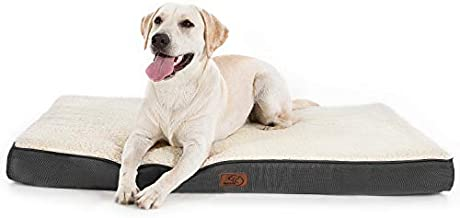 Bedsure Large Dog Bed for Large Dogs Cats Up to 75lbs - Orthopedic Big Dog Beds with Removable Washable Cover, Egg Crate Foam Pet Bed Mat, Grey