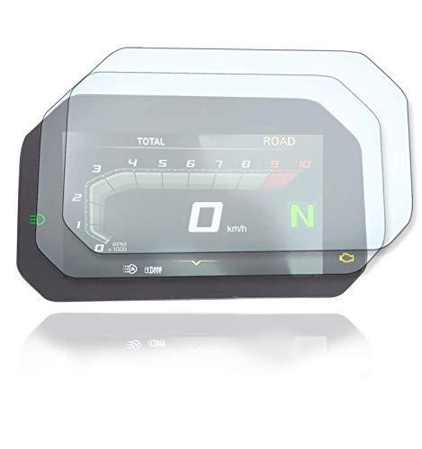 [2 STÜCK] Displayschutzfolie Tacho Schutzfolie geeignet für BMW R1250GS R1200GS F750GS F850GS C400X Connectivity 1x Ultra Clear / 1x Anti Glare