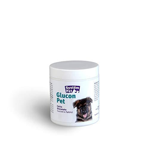GLUCON PET integratore vitamine A D C Calcio Cani Gatti Cuccioli e fattrici flacone da 100 compresse