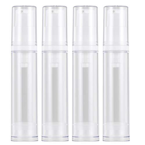KESYOO 4 Pcs Mini Pompe Bouteilles 10 ML Pompe Vide Lotion Bouteilles Rechargeable Liquide Parfum Flacons D'huile Essentielle Maquillage Lotion Distributeur (Bouteille de Lotion)