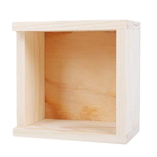 MUY Handgemachter Schmuck Aufbewahrungsbox Natürliche handgemachte Seife Verpackung HolzkisteWood Plain Candy Case Ring Organizer Crafts Case Andenkenbox Ostern für Frauen