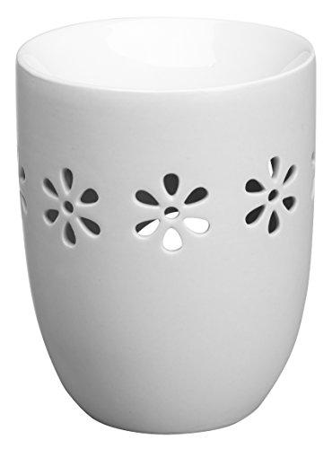Creations Bolsius Wachsbrenner aus Keramik, oval, Weiß
