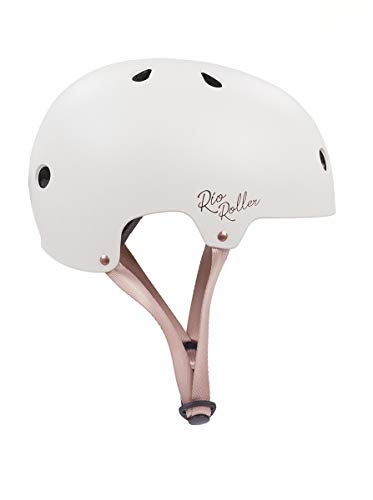 Rio Roller Rose Helmet Skateboard-Helm, Unisex, Erwachsene, Schwarz (Cream), 53-56 cm